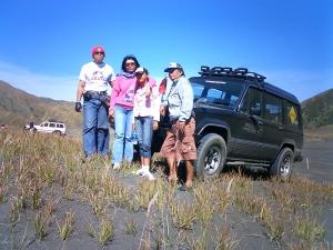 Me and family i Bromo Seasand