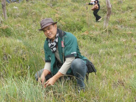 Me,planting eucaliptus tree in Bromo mountain.