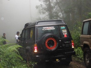In the jungle during theadventure tour