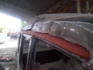 New flat metal for inner roof frame