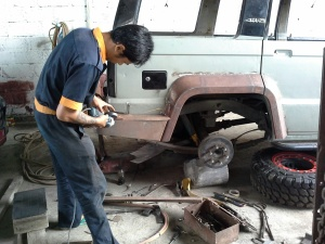 Creating rear end