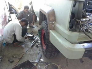 Fitting Foot Step and fender