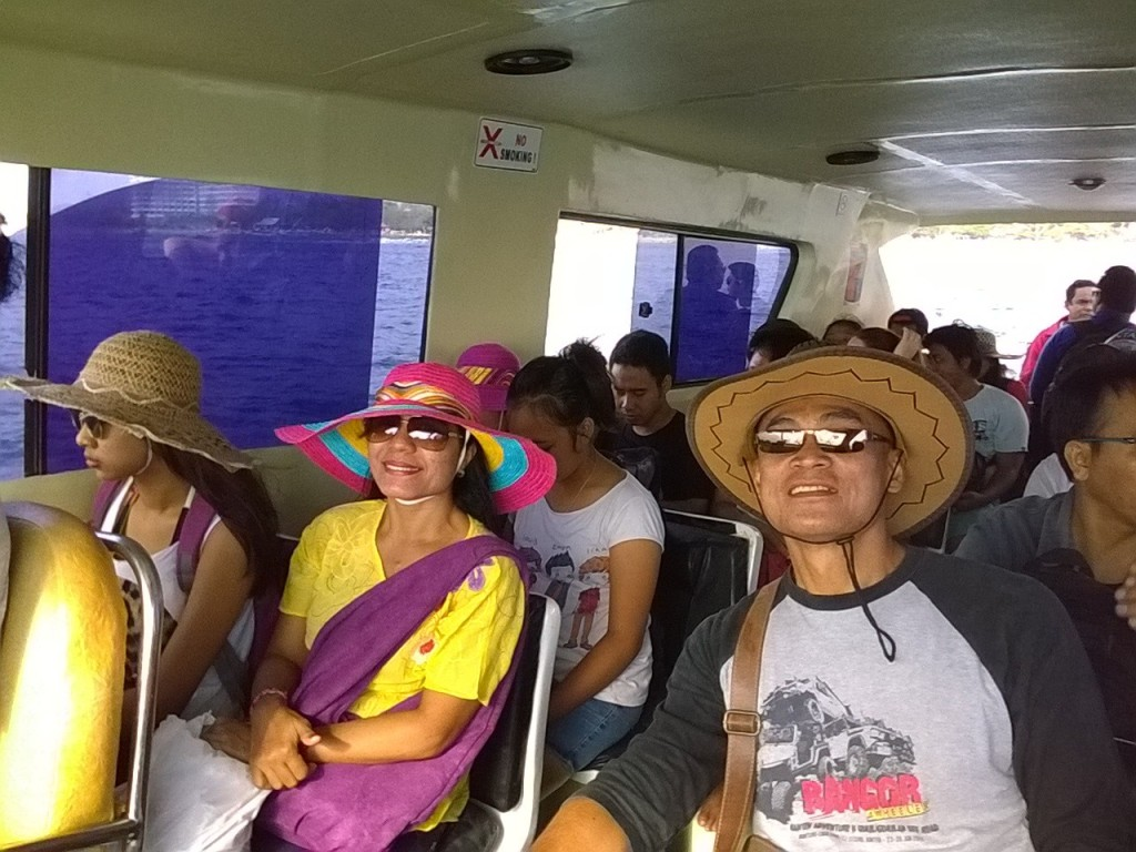 IN THE BOAT TO LEMBONGAN ISLAND