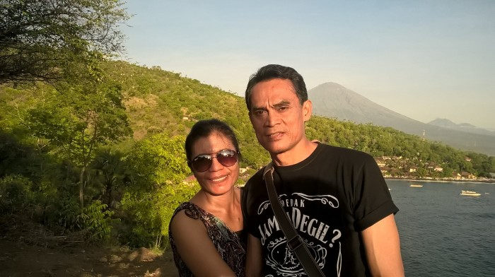 With beloved in sunset point